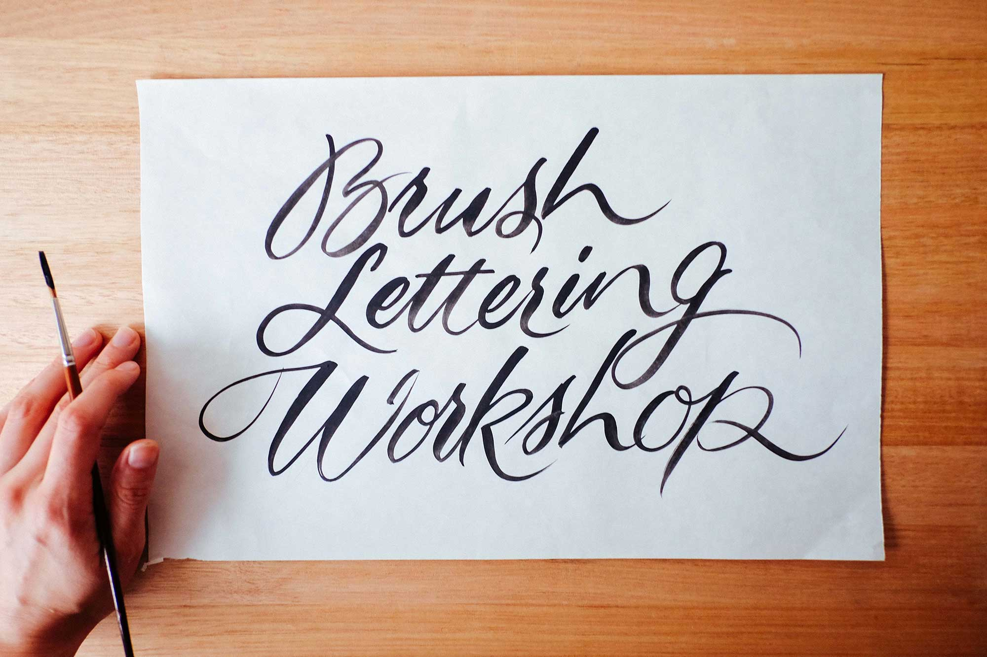 Brush Lettering Workshop, London 12th-13th August 2017